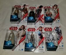 6 Star Wars The Last Jedi 3.75-In Force Link Exile Luke Rey and more