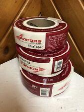 Lot Of 3 Adfors Fibatape Perfect Finish Mesh White Self Adhesive Drywall Tape