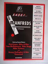 MANFRED MANN THE MANFREDS TOUR FLYER 1998 ORIGINAL VINTAGE MINT GEM RARE 20 YRS