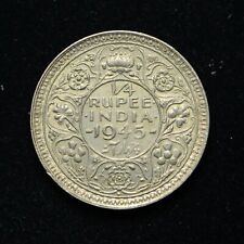 1945 India Silver 1/4 Rupee (bb4149)