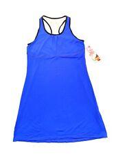 NWT Skirt Sports Wonder Girl Dress Blue/Black Size M Built-in Shelf Bra