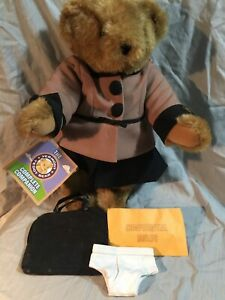 """Vermont Teddy Bear Co """"Confidential Briefs"""" ; New, Original Box with accessories"""