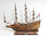 """HMS Sovereign of the Seas 1637 Tall Ship Wooden Model 37"""" Fully Assembled New"""