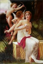Hand Painted Oil Painting Repro Guillaume SeignacLes Avances Lamour 24x36in