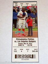 Josh Beckett No-Hitter 5/25/2014 Dodgers vs Phillies UNUSED MINT Ticket Stub