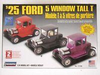 Lindberg Factory Sealed 25 Ford 5 Window Tall T 1:24 Model Kit #72196