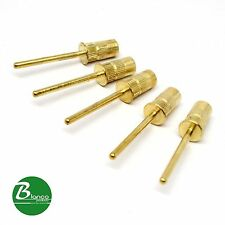 "Blanco Mandrel Gold Bit for Electric Nail Drill 40 mm 3/32"" 5 pcs"