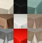 Plain Textured Pvc Oil Vinyl Table Cloth Modern Wipe Clean Black White Cream New