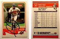 David Segui Signed 2004 Fleer Tradition #59 Card Baltimore Orioles Autograph