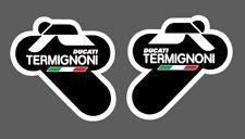 2 Adesivo Stickers TERMIGNONI resistente al calore 6 cm DUCATI Team black nero