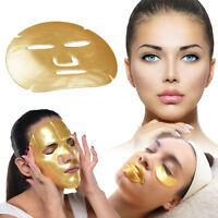 24K Gold Bio Collagen Face Lip Mask Wrinkle Tired Crow Feet Puffy Eye Treatment