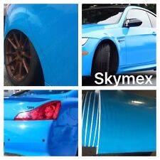 New LIGHT BLUE Gloss Vinyl Wrap Sheet Car Wrap Vinyl Wrapping Air Bubble Free