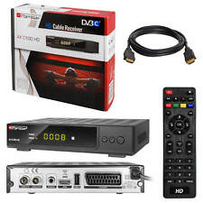 Digital Kabel TV Receiver Kabelreceiver DVB-C HDTV Opticum C100 SCART USB + HDMI