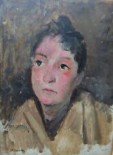 Jean Franck BAUDOUIN (1870-1961) portrait femme / huile sur panneau / painting