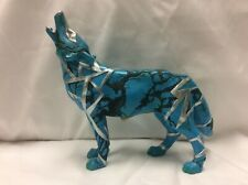 Call of the Wolf Turquoise Wolf 2006 #14131 Westland Giftware Figurine