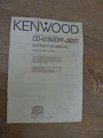 For Kenwood x200 Compact Disk Player CD-423M / DPF-J3030 Original Instruction