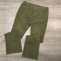 Eddie Bauer Women's 8 Long Green Flare Corduroy Pants