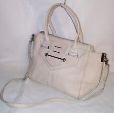 BOTKIER Beige Leather Silver  Tone Hardware Satchel Handbag Shoulder Bag