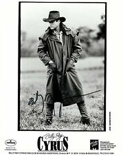 Billy Ray Cyrus signed early 8x10 promo / agency photo