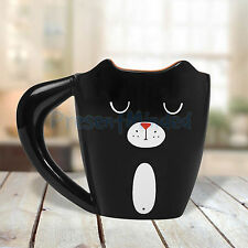 Black Cat Mug by Thumbs Up 3D Animal Lover's Ceramic Tea & Coffee Cup