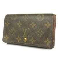 Sale! Auth LOUIS VUITTON M61736 Monogram Tresor Wallet Purse F/S 2668b
