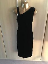 fab PLANET black velour style fitted dress size 8