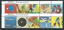 GREAT BRITAIN 2010 OLYMPICS 2 STRIPS OF 5 UNMOUNTED MINT,MNH WITH TITLES
