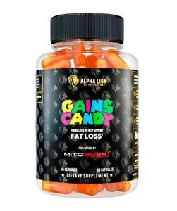 ALPHA LION GAINS CANDY MITOBURN (60 CAPSULES) super human fat loss thermogenic