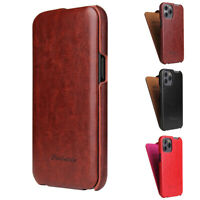 Luxury Case Vertical Flip Pouch Slim Leather Cover for iPhone 12 Mini 12 Pro Max