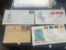 Netherlands war wounded postcard + 3 stamp exhibition FDC covers