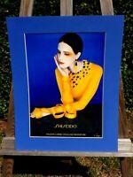 alter Reklame Druck Bild hinter Passepartout Shiseido Tokyo Kosmetik 50x40cm 6