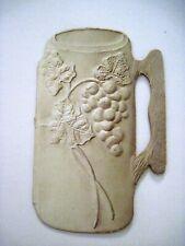 Unusual Vintage Valentine Card In Shape of a Mug w/ Embossed Grapes & Leaves*