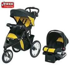 Graco Trax Jogger Click Connect Baby Stroller Travel System Infant Car Seat Gold