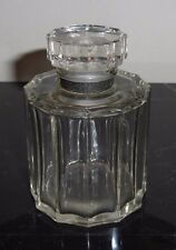 Vintage 12 Sided Dodecagon Perfume Bottle Made in France with Glass Stopper