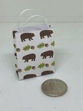 Handmade 1:12th Scale Dolls House Miniature Accessory Children's Bear Gift Bag