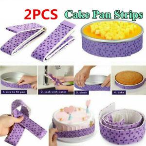 2Pc Wilton Bake-Even Strips Belt Bake Even Bake Moist Level Cake Baking Tool