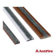 Intumescent Fire & Smoke Door Strip Seals - Double Door Set - White / Brown