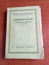 1937 - LORENZACCIO (LORENZO DE'MEDICI) 1514-1548 - RIDOLFO MAZZUCCONI