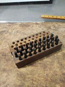 Vintage Machinist Steel Letter Metal Die Punch Alphabet Numbers Stamping Set