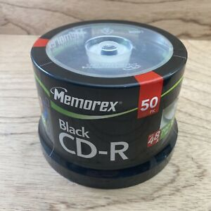 Memorex Black CD-R 48x 700MB 80 Minutes (50 Pack) Sealed. NEW in Packaging ⭐️