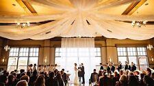 Ceiling Draping Sheer Voile Chiffon Ceiling Drape Panel Wedding 10 ft x 40 ft