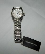 Emporio Armani Classic Mother Of Pearl Dial Stainless Women's Watch NEW AR0379