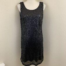 Mark Women's Size Large Little Black Dress Short Sexy Sequin LBD Sleeveless Avon