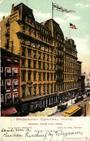 Vintage Postcard - Posted 1907 Broadway Central Hotel New York NY #4417