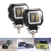 2pcs 20W LED Angel Eye Arbeitsscheinwerfer Fog Driving Lampe Offroad Traktor LKW