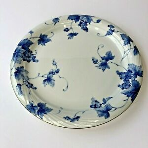 "Tachikichi Adam & Eve Blue and White Vine Pattern  Large dinner Plate 10 1/4"""