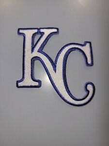 """KANSAS CITY ROYALS* BLUE & WHITE EMBROIDERED IRON ON PATCHES 3""""X3"""""""