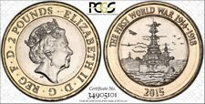 2015 GB £2 PCGS MS63 Royal Nvy FullFlg Err TrueView #101 - RicksCafeAmerican.com