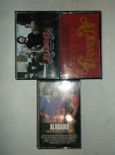 Alabama Cassette Tape Lot of 3 American Pride Christmas The Closer You Get
