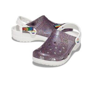 CROCS Classic Translucent Glitter Clog PRIDE